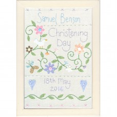 Personalised Christening Sampler (Blue)