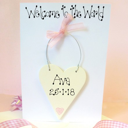 Girls Welcome  to the World Card