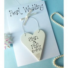 Personalised Pearl Wedding Card