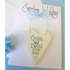 Personalised Sapphire Wedding Card