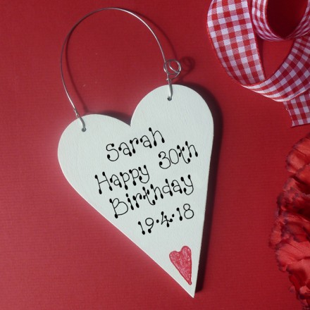Personalised Birthday Message Heart