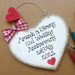 Personalised 2nd Anniversary Sign