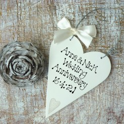 Personalised Anniversary Message Heart