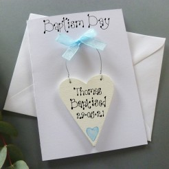 Personalised Baptism Day Card