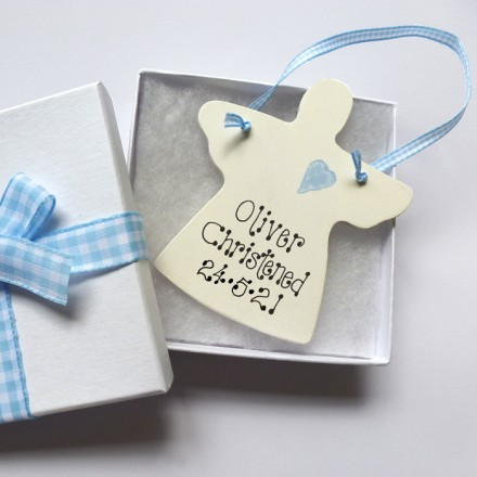 Personalised Angel Christening Gift Box