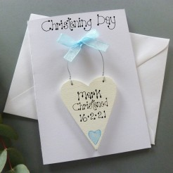 Personalised Christening Day Card (Boy's)