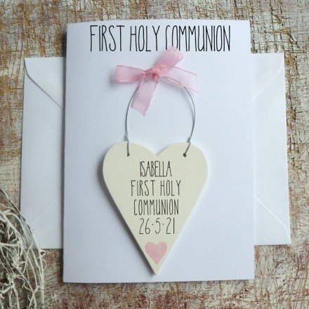Girl's Personalised Holy Communion Card