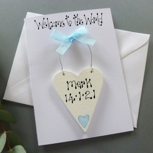 Boys Welcome to the World New Baby Card