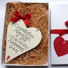 Golden Anniversary Heart Gift Box