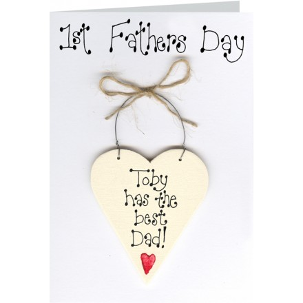 1st Fathers Day Personalised Card