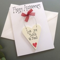 Personalised 2nd Anniversary Card