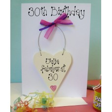 Personalised 30th Birthday Card