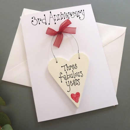3rd Anniversary Personalised Card