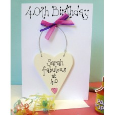 Personalised 40th Birthday Card
