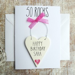 Personalised 50th Birthday Card For Her