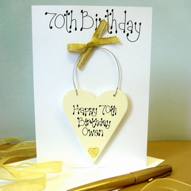 70th birthday card personalised 70th birthday card bookmarktalkfo Image collections
