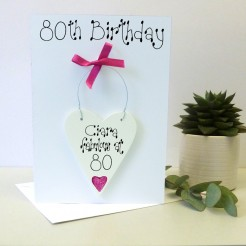 Personalised 80th Birthday Card