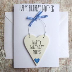 Brother's Personalised Birthday Card