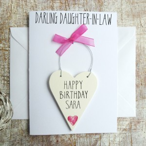 Daughter-in-Law Personalised Birthday Card