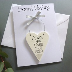 Personalised Diamond Wedding Card