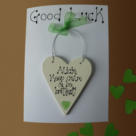Personalised Good Luck Card