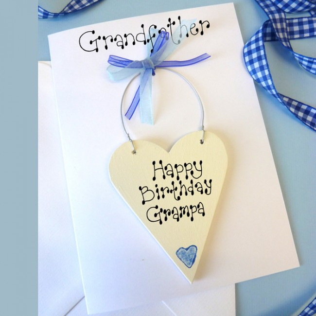 personalised grandfather birthday card, Birthday card