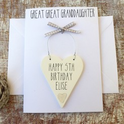 Great Great Granddaughter Birthday Card