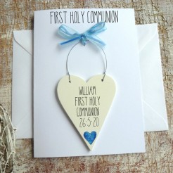 Boy's Personalised Holy Communion Card