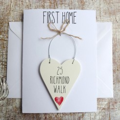 New Home Personalised Home Sweet Home Card