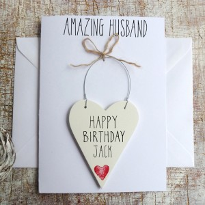 HAPPY BIRTHDAY HUSBAND PERSONALISED CARD