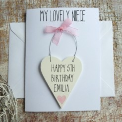 Personalised Niece Birthday Card