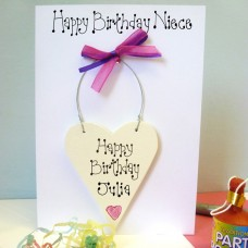 Niece Personalised Birthday Card