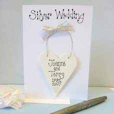 Personalised Silver Wedding Card