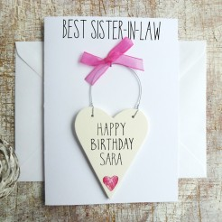 Personalised Sister-in-Law Birthday Card