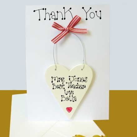 Teachers Personalised Thank You Card
