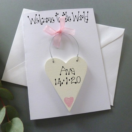 Girls Welcome to the World New Baby Card