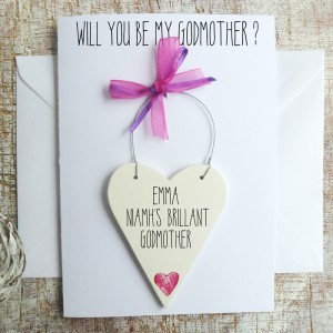 WILL YOU BE MY GODMOTHER? Personalised Card