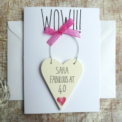 Personalised WOW! Birthday Card