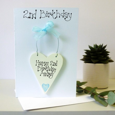 Personalised 2nd Birthday Card