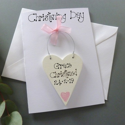 Personalised Christening Day Card (Girl's)