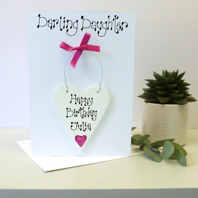Daughters Personalised Birthday Card
