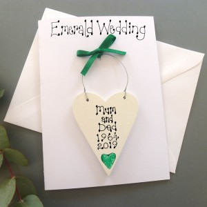 Personalised Emerald Wedding Card