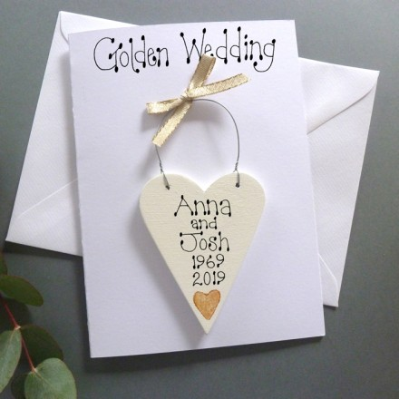 Personalised Golden Wedding Card