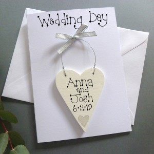 Personalised Wedding Day Card