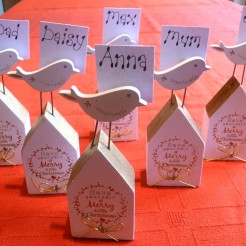 Christmas Place Card Holder set of 6