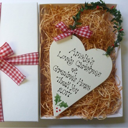 Personalised Christmas Heart and Gift Box