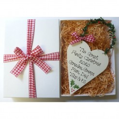 Personalised Christmas Heart Gift Box