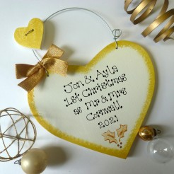 Personalised Gold Christmas Sign