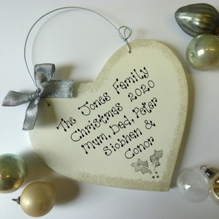 Personalised Silver Christmas Sign