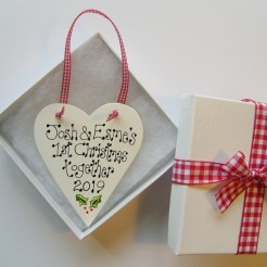 Personalised Christmas Love Token